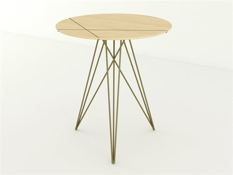 Tronk Design Brassy Gold 18'' Wide Round End Table