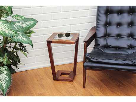 Tronk Design Harris Walnut 12L x 12 Wide Square End Table TROHARWAL
