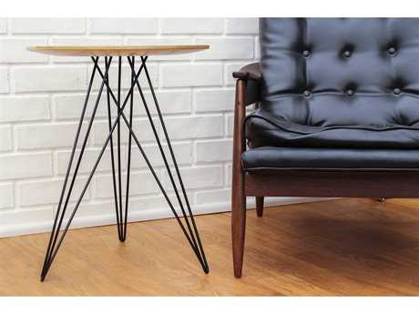 Tronk Design Hudson Maple Round End Table