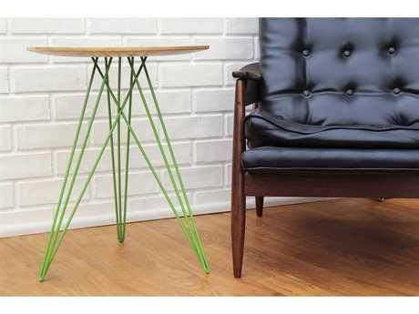 Tronk Design Hudson Maple Round End Table TROHUDMPLINLGN