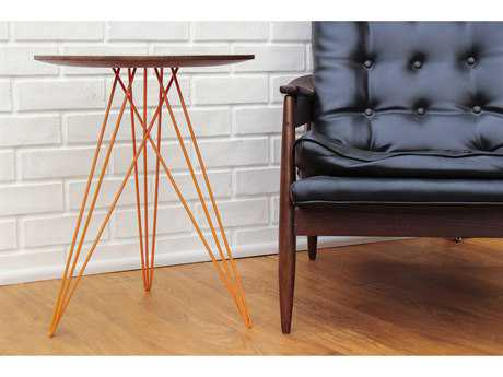 Tronk Design Hudson Walnut Round End Table