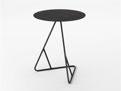 Tronk Design James Table Collection Black 18'' Wide Round End