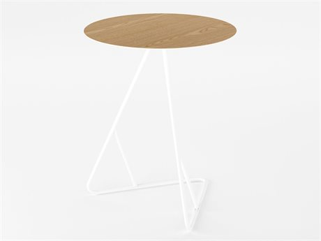 Tronk Design James Table Collection White 18'' Wide Round End