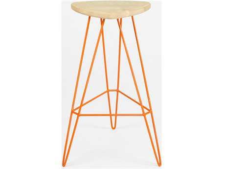 Tronk Design Madison Orange Side Bar Height Stool TROMADBARMPLOR