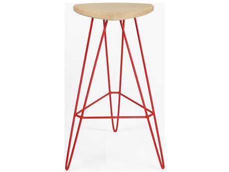 Tronk Design Madison Red Side Bar Height Stool TROMADBARMPLRD