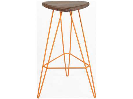 Tronk Design Madison Orange Side Bar Height Stool TROMADBARWALOR