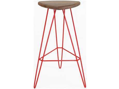 Tronk Design Madison Red Side Bar Height Stool TROMADBARWALRD