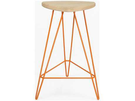 Tronk Design Madison Orange Side Counter Height Stool TROMADCTRMPLOR