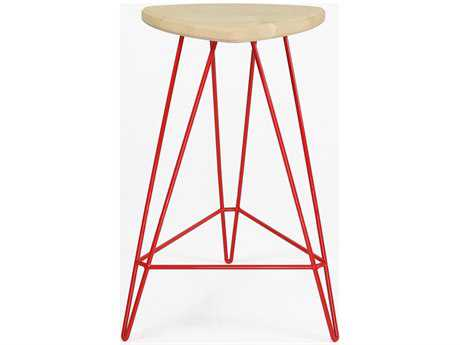 Tronk Design Madison Red Side Counter Height Stool TROMADCTRMPLRD