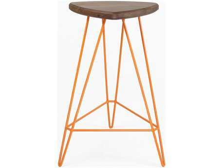 Tronk Design Madison Orange Side Counter Height Stool TROMADCTRWALOR