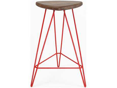 Tronk Design Madison Red Side Counter Height Stool TROMADCTRWALRD