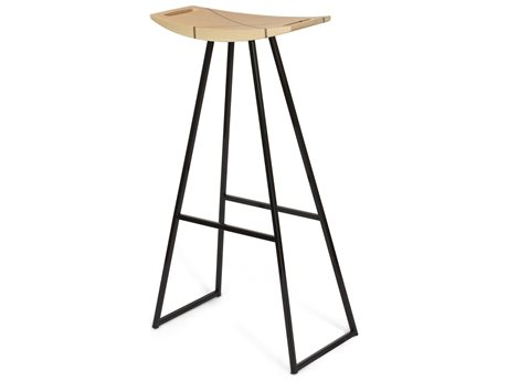 Tronk Design Robert Maple Black Side Bar Height Stool TROROBMPLBARINLBL
