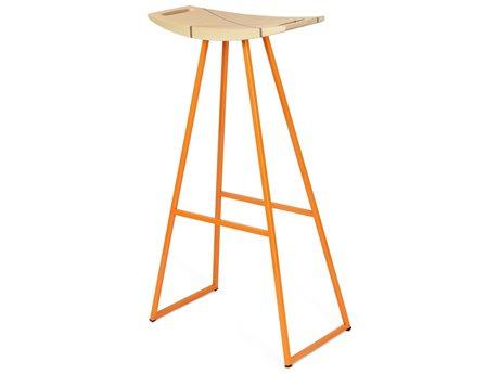 Tronk Design Robert Maple Orange Side Bar Height Stool TROROBMPLBARINLOR