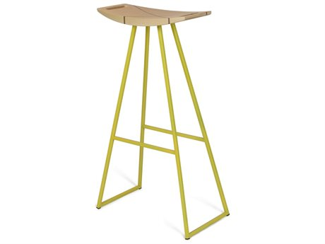 Tronk Design Robert Maple Yellow Side Bar Height Stool TROROBMPLBARINLYL