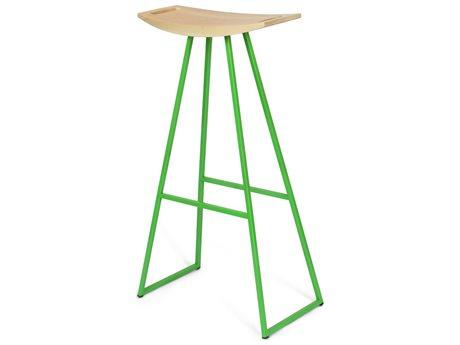 Tronk Design Robert Maple Green Side Bar Height Stool TROROBMPLBARNOINLGN