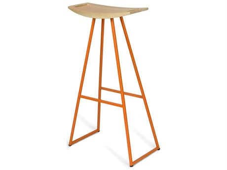 Tronk Design Robert Maple Orange Side Bar Height Stool TROROBMPLBARNOINLOR