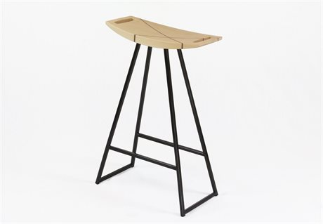Tronk Design Robert Maple Black Side Counter Height Stool