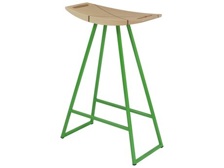 Tronk Design Robert Maple Green Side Counter Height Stool TROROBMPLCTRINLGN
