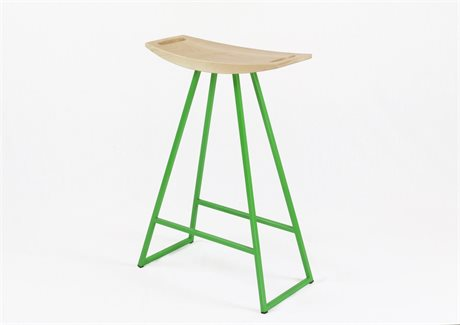 Tronk Design Robert Maple Green Side Counter Height Stool TROROBMPLCTRNOINLGN