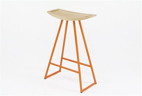 Tronk Design Robert Maple Orange Side Counter Height Stool