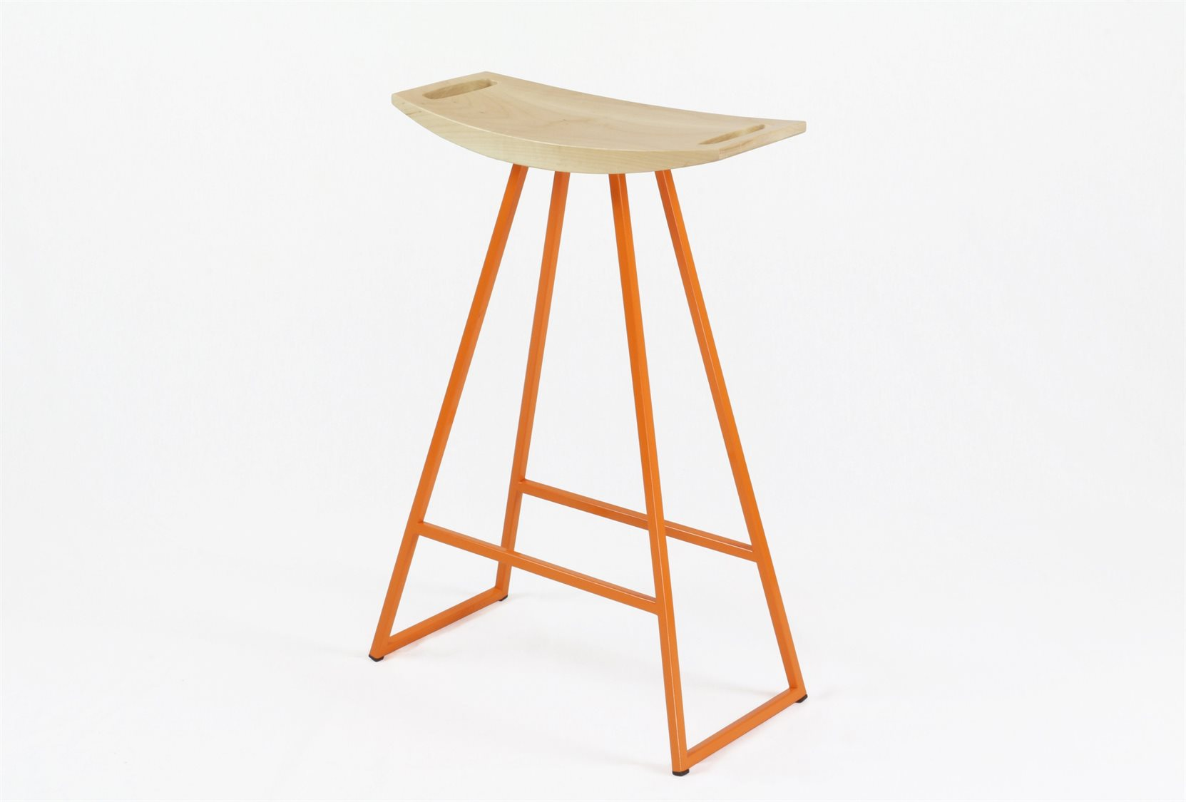 Brilliant Tronk Design Robert Maple Orange Side Counter Height Stool Bralicious Painted Fabric Chair Ideas Braliciousco