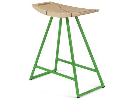 Tronk Design Robert Maple Green Side Table Height Stool TROROBMPLTBLINLGN