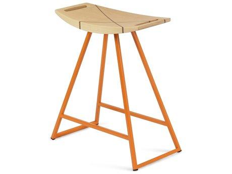 Tronk Design Robert Maple Orange Side Table Height Stool TROROBMPLTBLINLOR