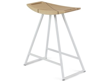 Tronk Design Robert Maple White Side Table Height Stool TROROBMPLTBLINLWH