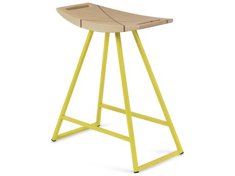 Tronk Design Robert Maple Yellow Side Table Height Stool TROROBMPLTBLINLYL