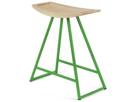 Tronk Design Robert Maple Green Side Table Height Stool TROROBMPLTBLNOINLGN
