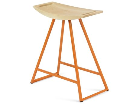Tronk Design Robert Maple Orange Side Table Height Stool TROROBMPLTBLNOINLOR
