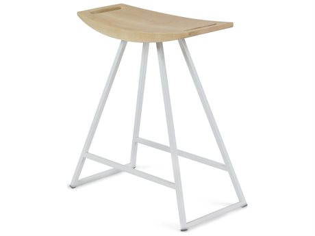 Tronk Design Robert Maple White Side Table Height Stool TROROBMPLTBLNOINLWH