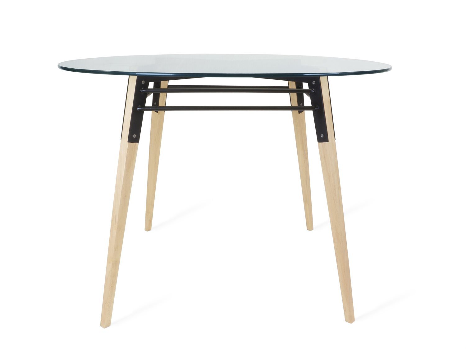 Tronk Design Ross Black 42 Wide Round Dining Table Trorosdinmplbl