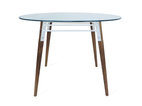 Tronk Design Ross Collection White 42'' Wide Round Dining Table