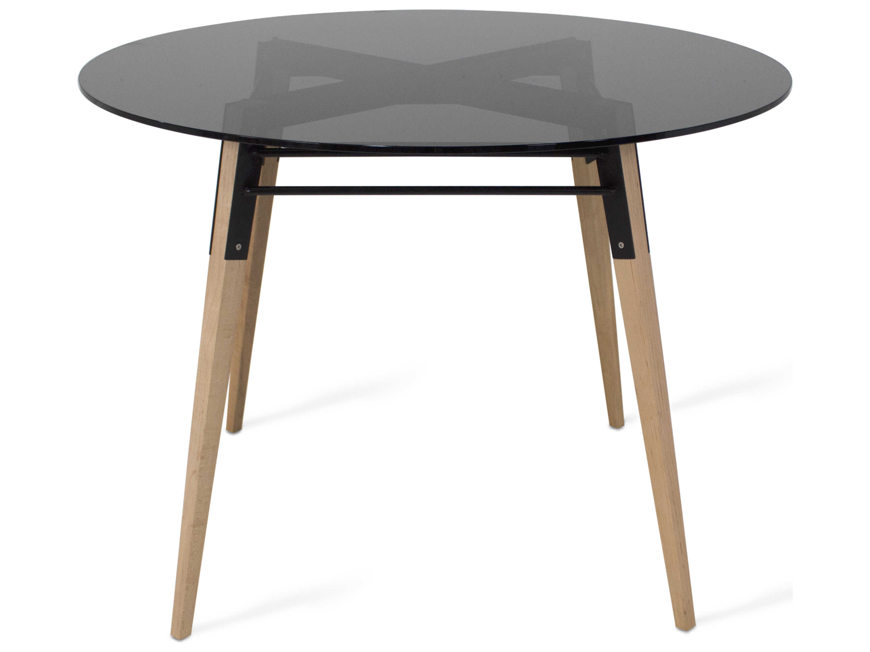 Tronk Design Ross Black Maple 42 Wide Round Dining Table Trorosdinmplblsmk