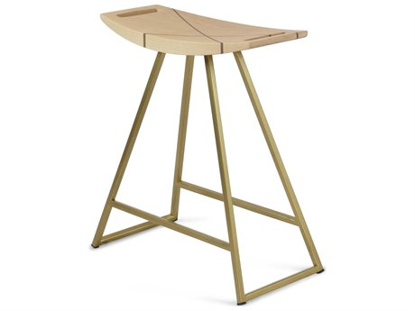 Tronk Design Robert Maple / Brassy Gold Dining Stool