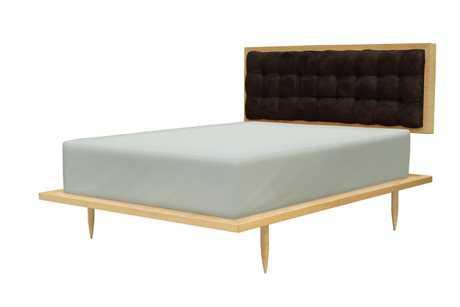 Tronk Design Turner Maple Black Queen Panel Bed