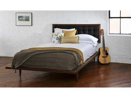 Tronk Design Turner Walnut Black Queen Panel Bed