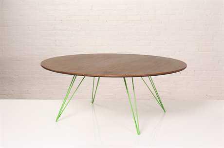 Tronk Design Williams Walnut Round Coffee Table