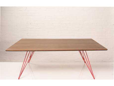 Tronk Design Williams Walnut 54L x 46 Wide Rectangular Coffee Table
