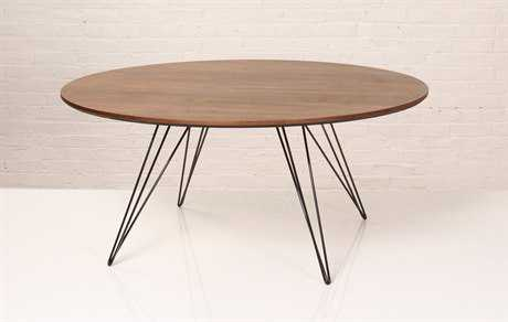 Tronk Design Williams Walnut Round Coffee Table TROWILCOFWALSMCIRBL