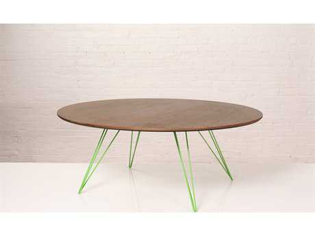 Tronk Design Williams Maple 46L x 40 Wide Oval Coffee Table