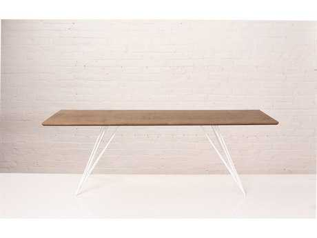 Tronk Design Williams Walnut 54L x 23 Wide Rectangular Coffee Table TROWILCOFWALXSMRECWH