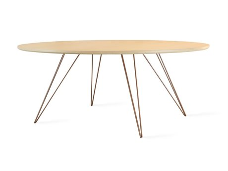 Tronk Design Williams Table Collection Rose Copper 46'' Wide Oval Coffee