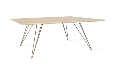 Tronk Design Williams Table Collection Rose Copper 46'' Wide Rectangular Coffee