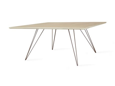 Tronk Design Williams Table Collection Rose Copper 40'' Wide Square Coffee TROWILCOFMPLSMSQCP