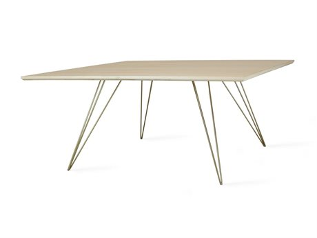 Tronk Design Williams Table Collection Brassy Gold 40'' Wide Square Coffee TROWILCOFMPLSMSQGD