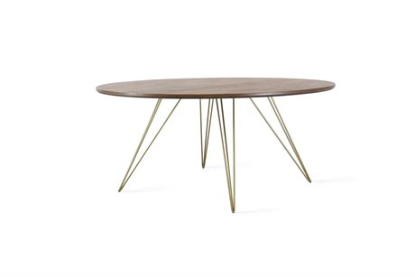 Tronk Design Williams Table Collection Brassy Gold 40'' Wide Round Coffee