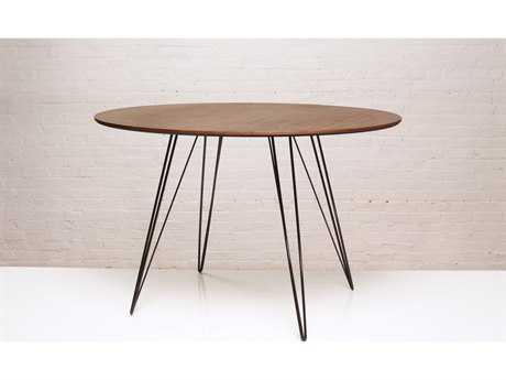 Tronk Design Williams Walnut Round Dining Table TROWILDINWALLGCIRBL