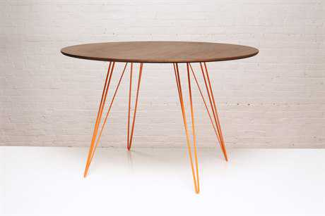 Tronk Design Williams Walnut Round Dining Table TROWILDINWALLGCIROR